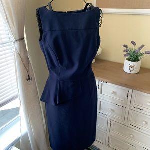 ANTONIO MELANI Navy Blue Career Business Dress 2